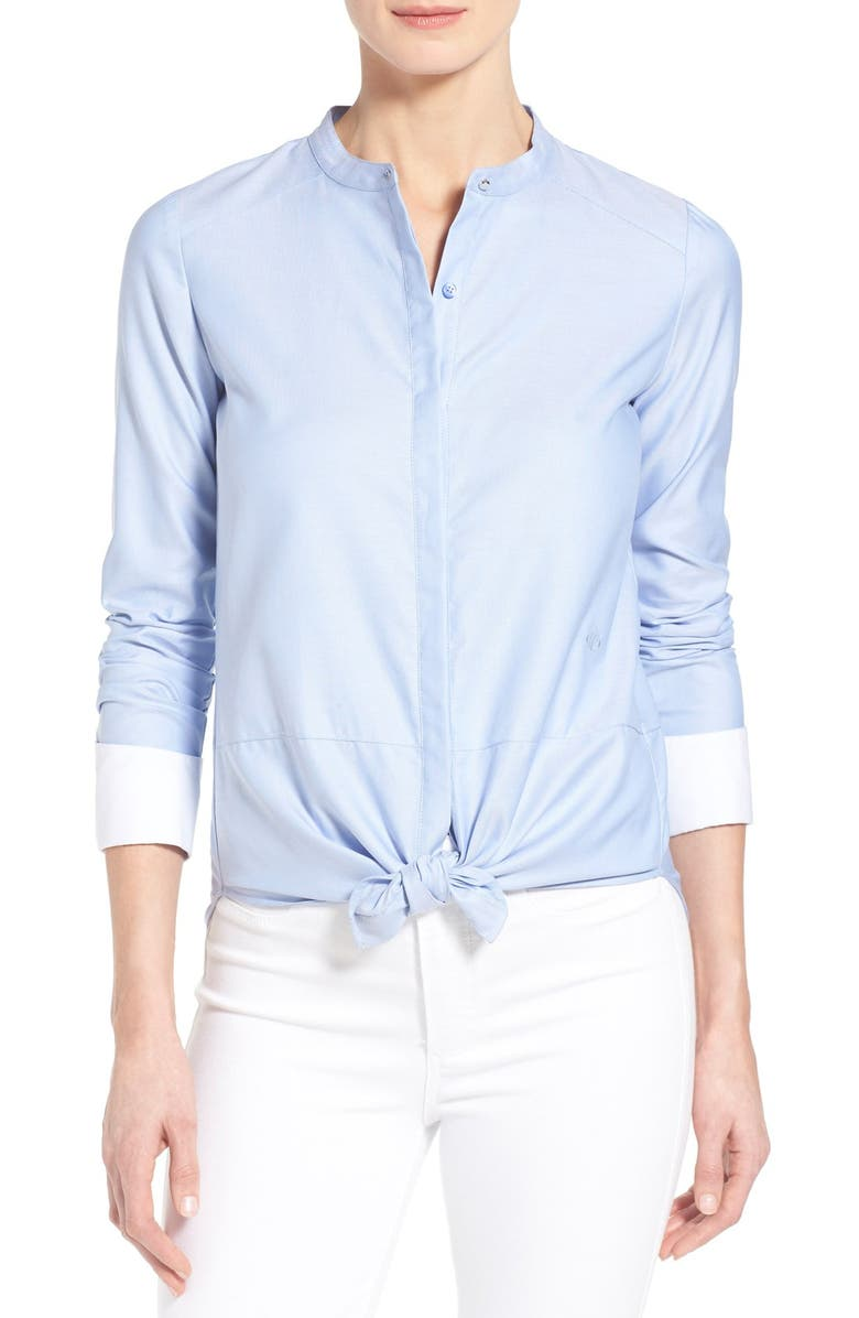 CHELSEA28 Olivia Palermo + Chelsea28 Cotton Oxford Shirt, Main, color, 420