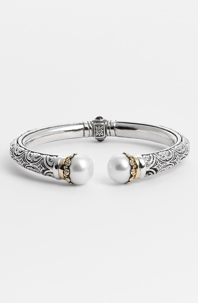 KONSTANTINO 'Hermione' Hinged Cuff, Main, color, SILVER/ GOLD