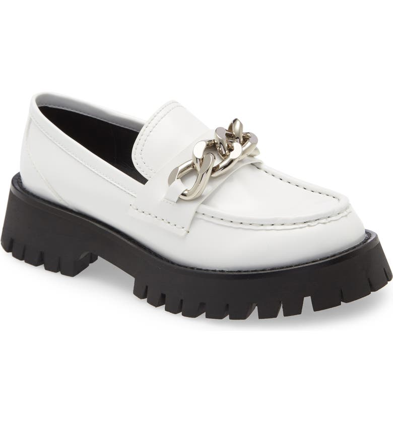 JEFFREY CAMPBELL Recess Chain Platform Loafer, Main, color, WHITE BOX