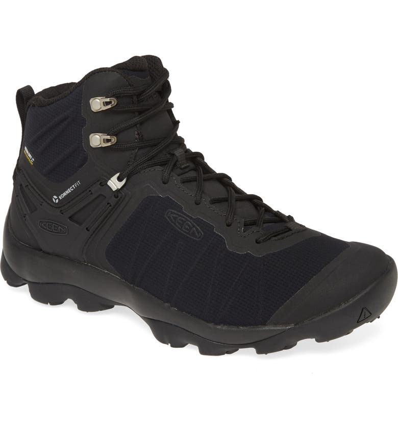 KEEN Venture Waterproof Hiking Shoe, Main, color, BLACK/ BLACK
