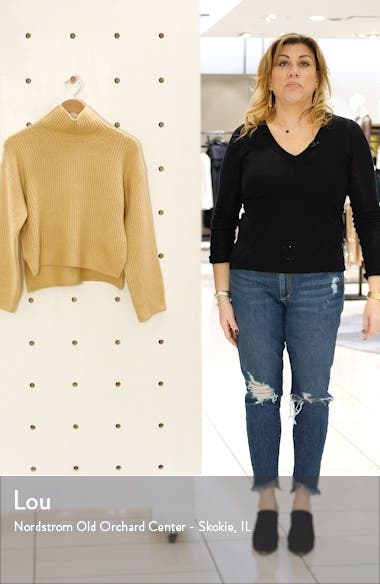 Crop Funnel Neck Sweater, sales video thumbnail