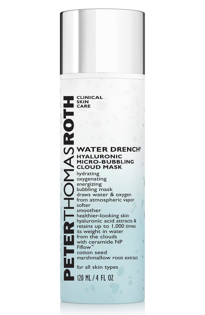 PETER THOMAS ROTH Water Drench Hyaluronic Micro-Bubbling Cloud Mask, Main, color, NO COLOR