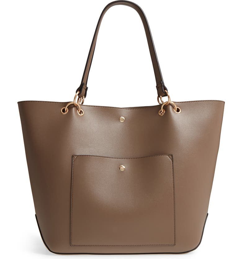 SOLE SOCIETY Fronto Faux Leather Tote, Main, color, 281