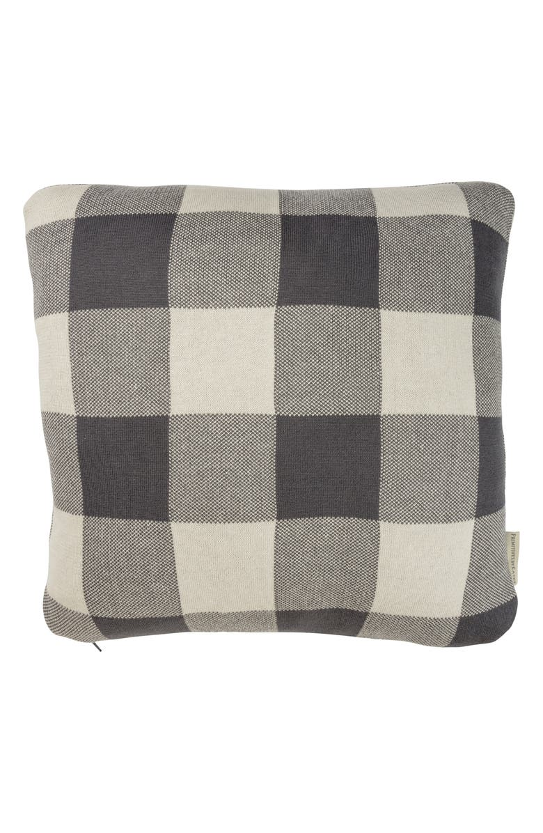 PRIMITIVES BY KATHY Buffalo Check Knit Accent Pillow, Main, color, 020