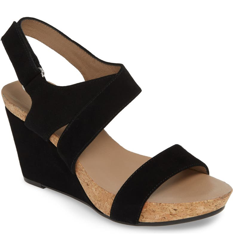 BETTYE MULLER CONCEPTS Trent Slingback Wedge, Main, color, BLACK SUEDE