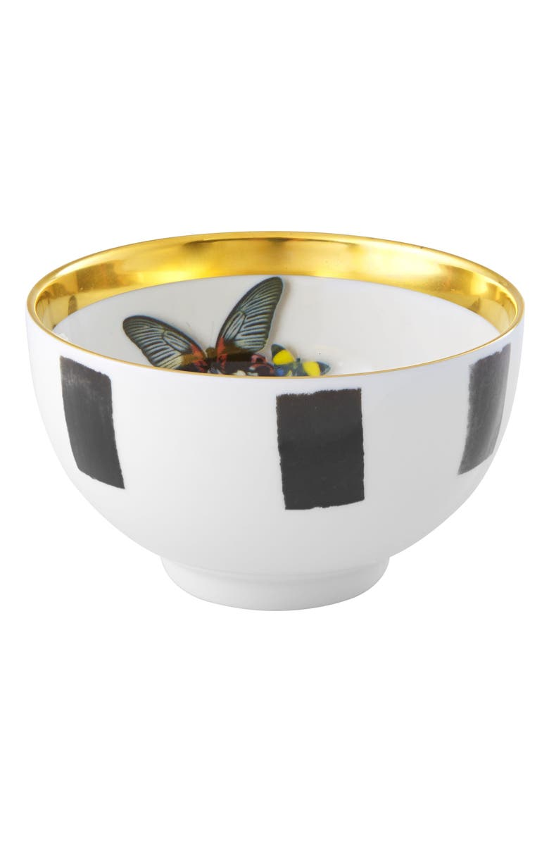 CHRISTIAN LACROIX Sol y Sombra Rice Bowl, Main, color, BLACK AND WHITE