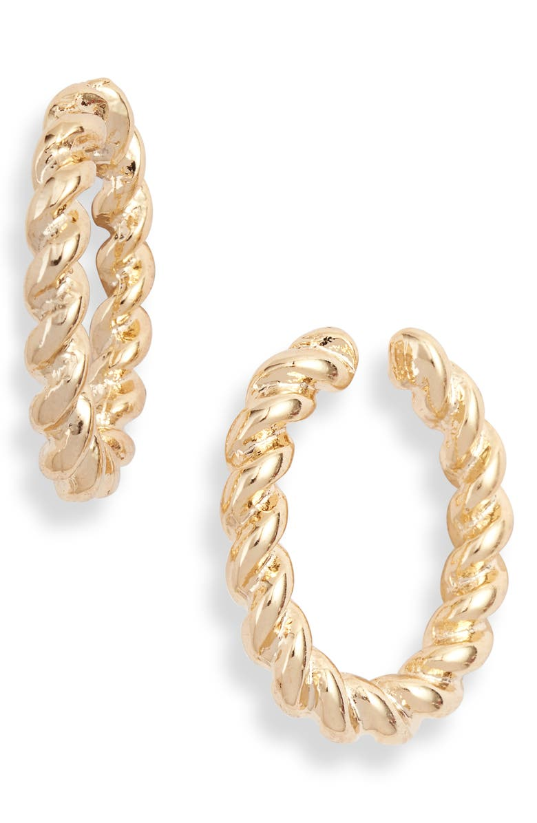 8 OTHER REASONS Landslide Twisted Hoop Ear Cuffs, Main, color, 710