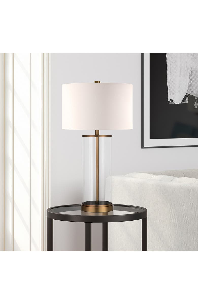 ADDISON AND LANE Rowan Table Lamp - Glass And Antique Brass, Main, color, BRASS