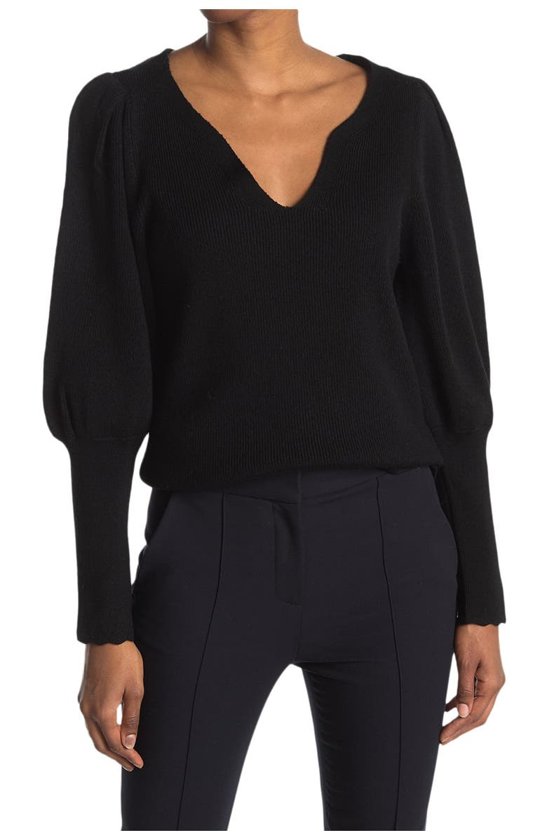 REBECCA TAYLOR Luxe Merino Wool Sweater, Main, color, 001