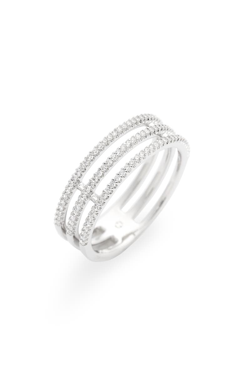 NADRI Triple Row Pavé Ring, Main, color, 040