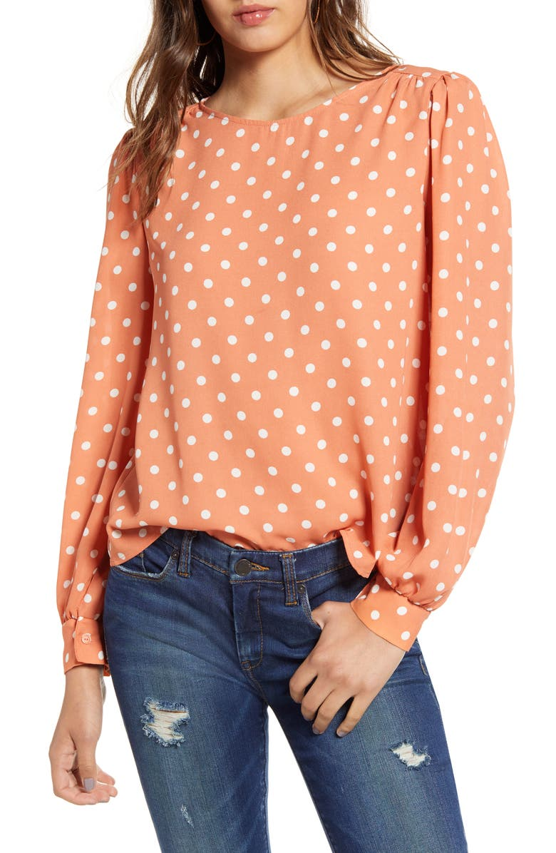 ALL IN FAVOR Print Blouse, Main, color, 100