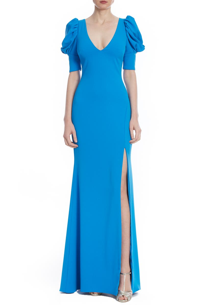 BADGLEY MISCHKA COLLECTION Odessa Puff Sleeve Gown, Main, color, 400