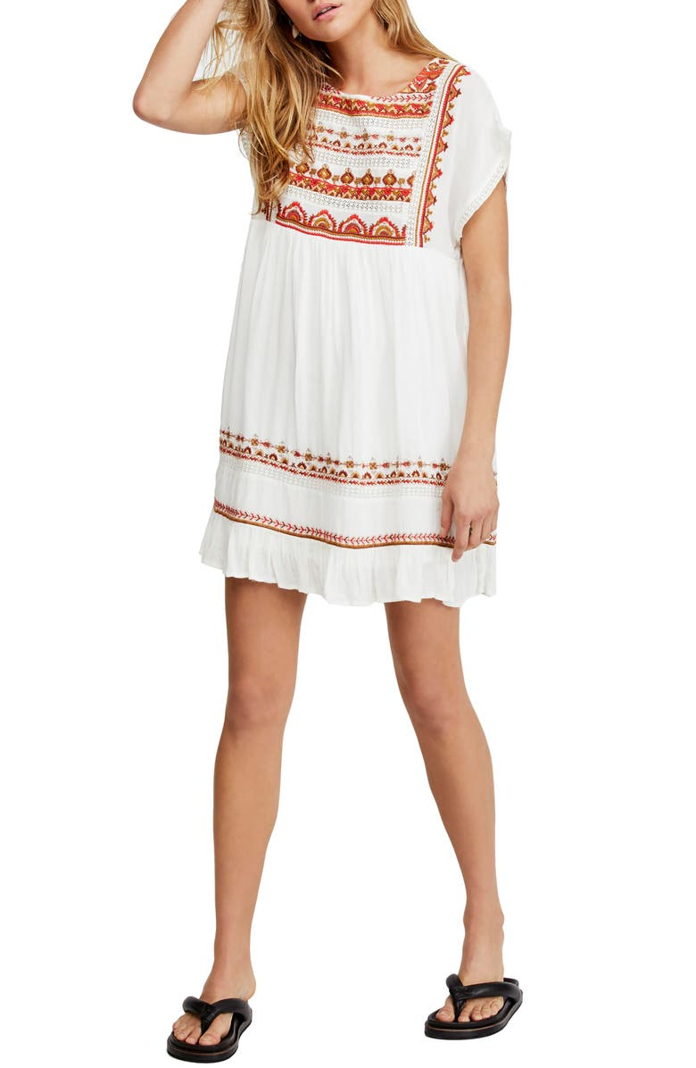 FREE PEOPLE Sunrise Wanderer Minidress, Main, color, 903
