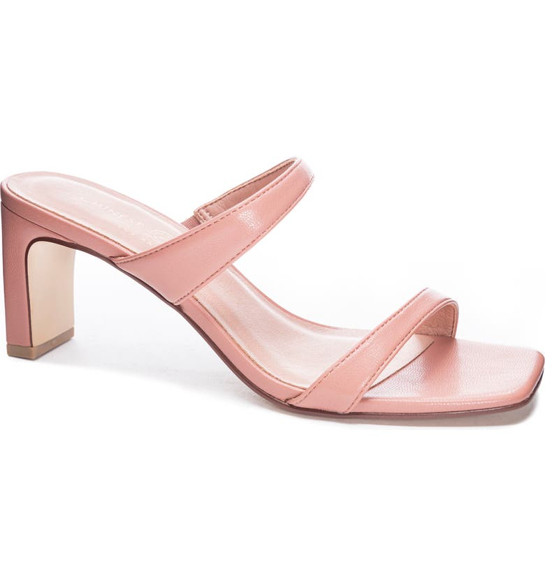 CHINESE LAUNDRY Yanti Slide Sandal, Main, color, CORAL LEATHER