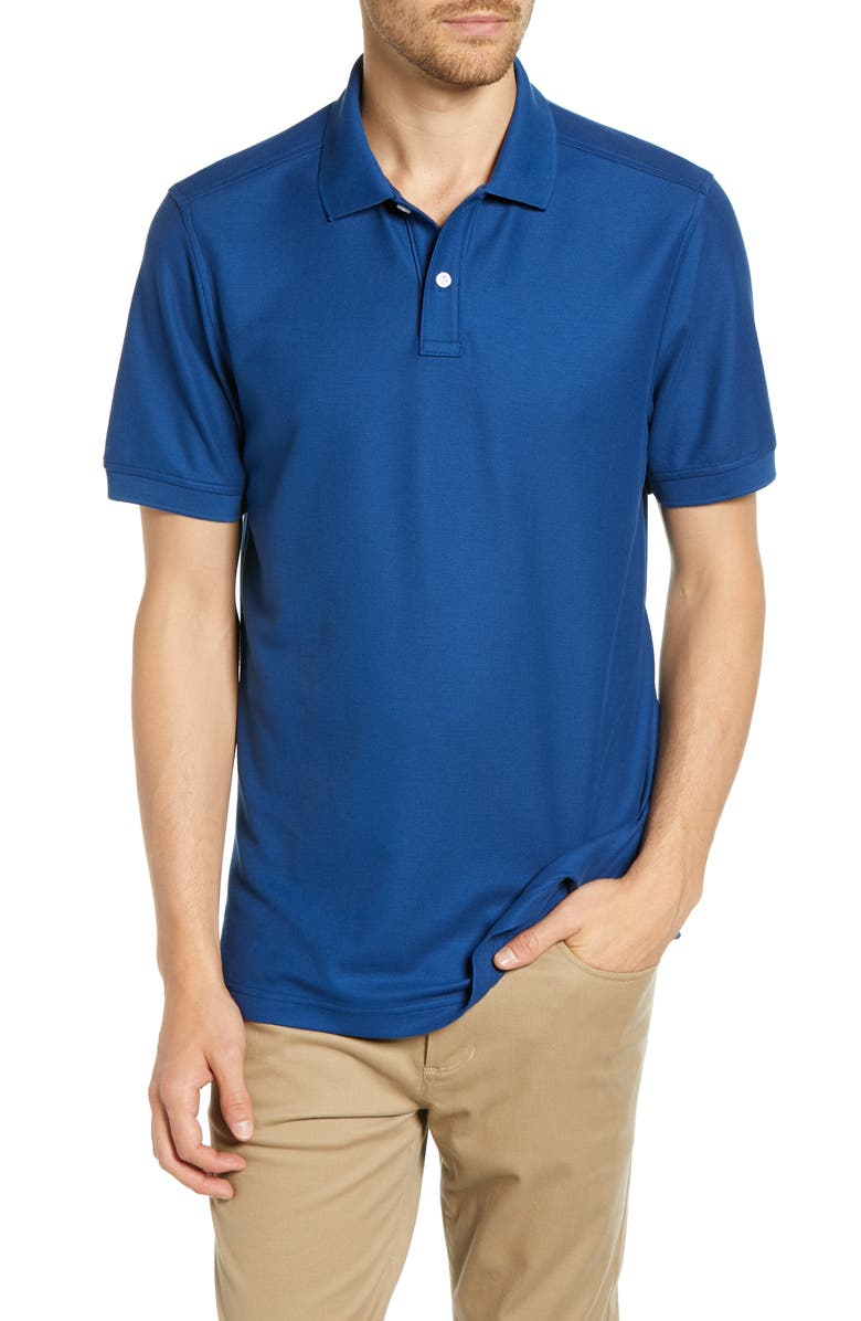 NORDSTROM MEN'S SHOP Regular Fit Piqué Polo, Main, color, 401