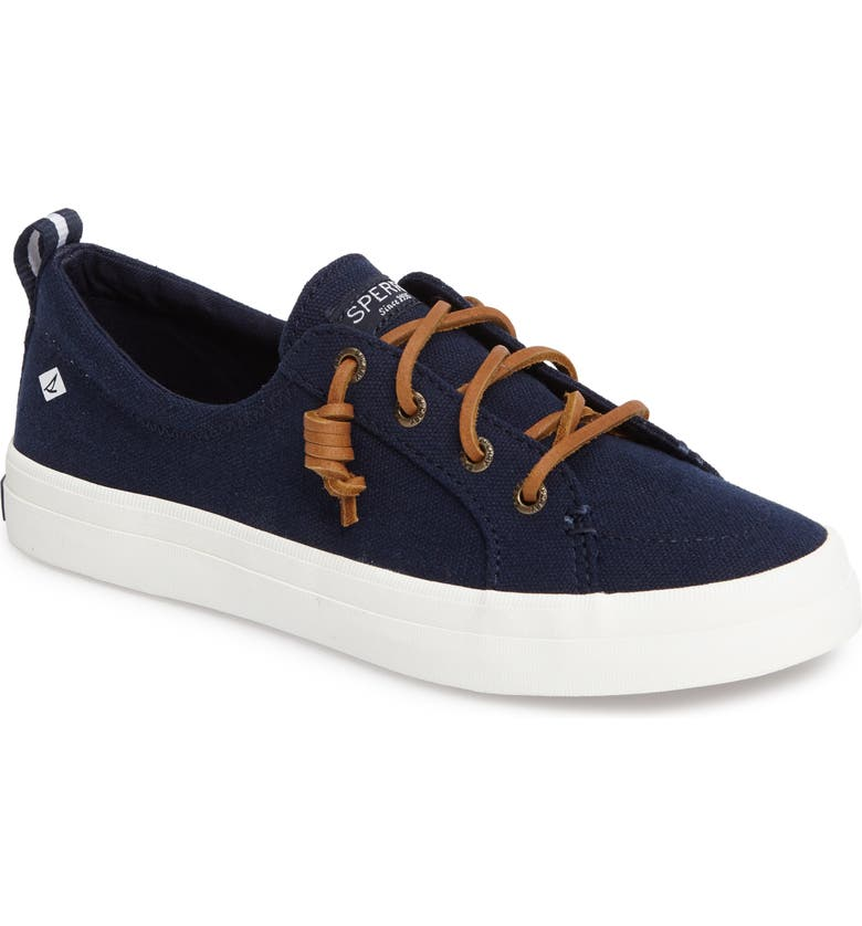 SPERRY Crest Vibe Slip-On Sneaker, Main, color, NAVY  CANVAS
