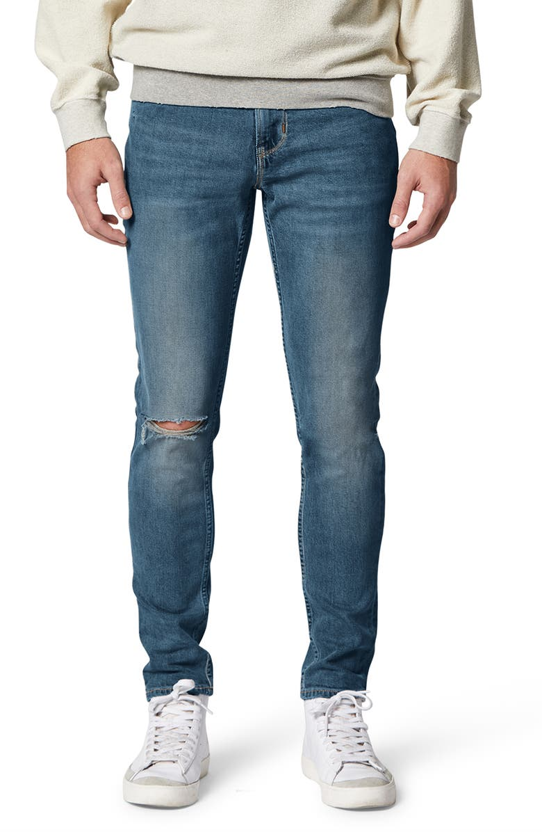 HUDSON JEANS Zack Ripped Skinny Fit Jeans, Main, color, NORRIS