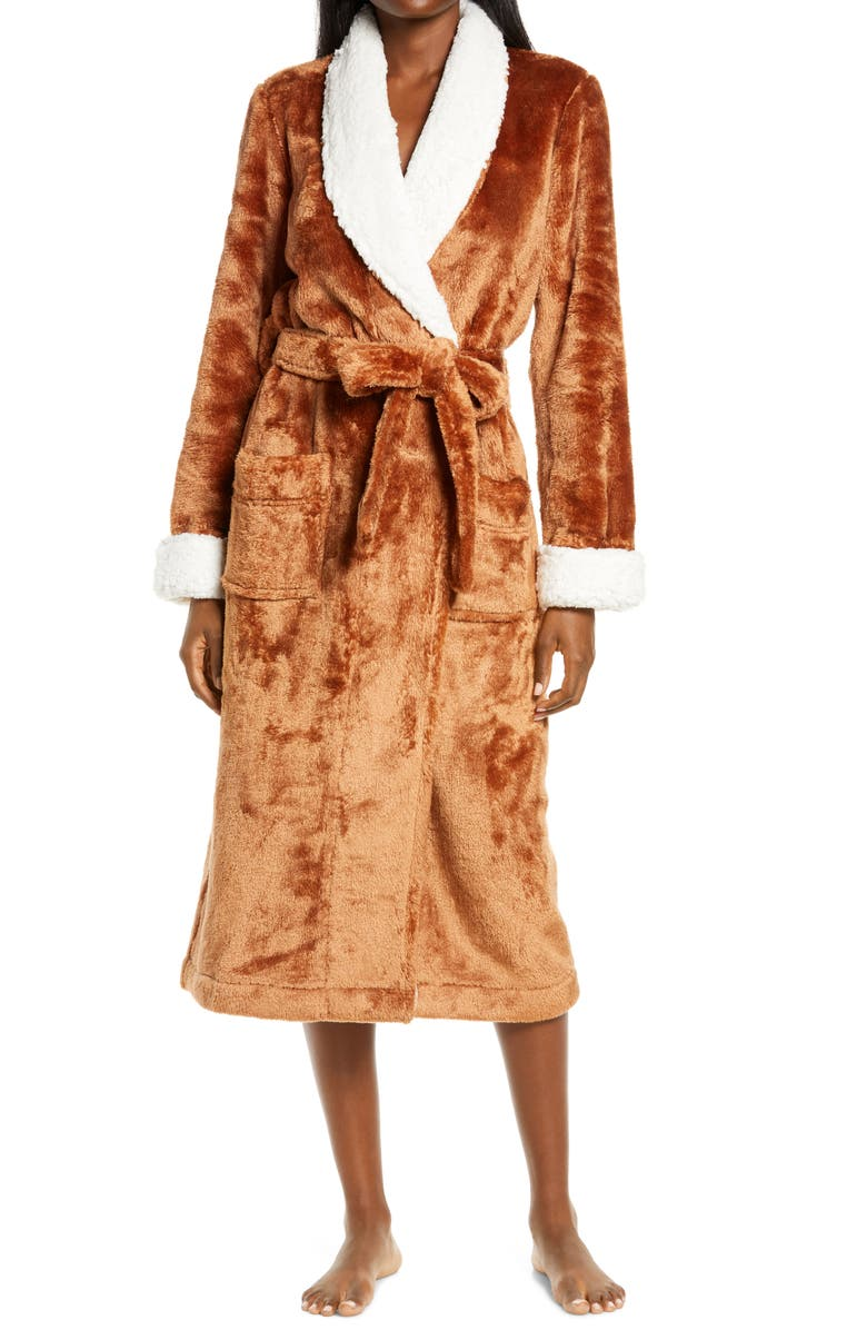 NORDSTROM Frosted Plush Robe, Main, color, 210