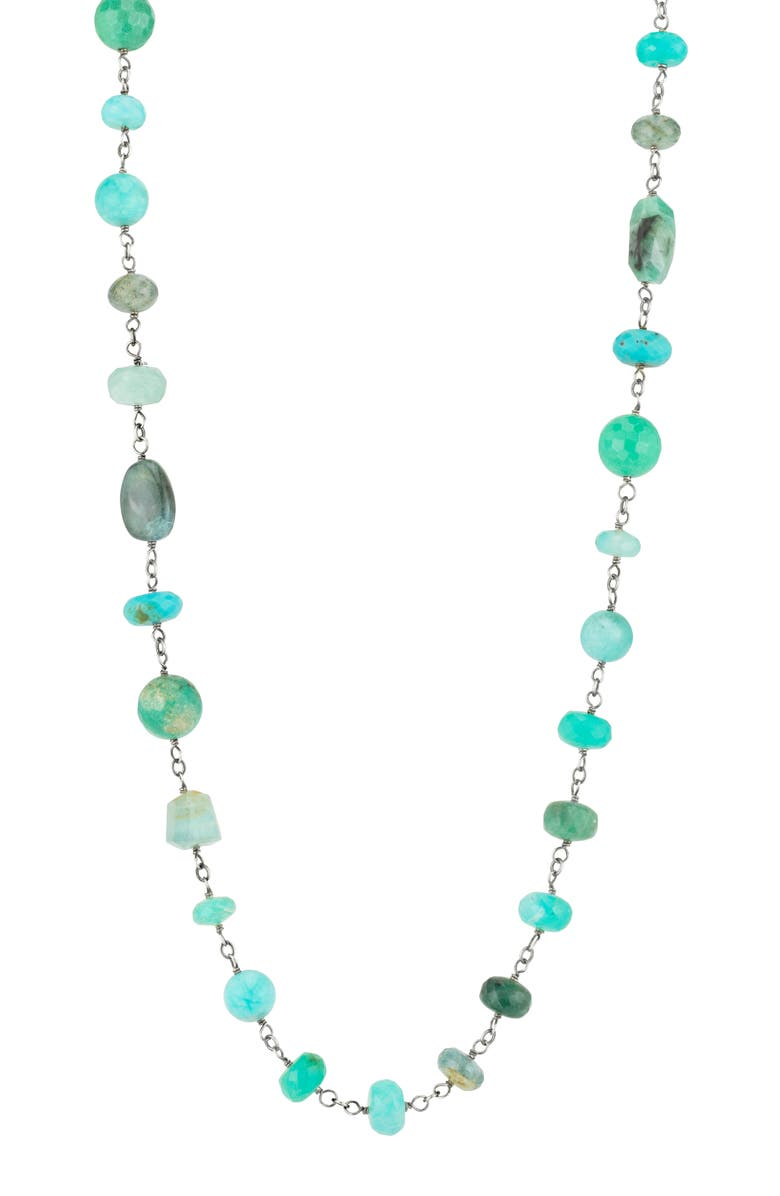 SHERYL LOWE Long Turquoise Necklace, Main, color, 400