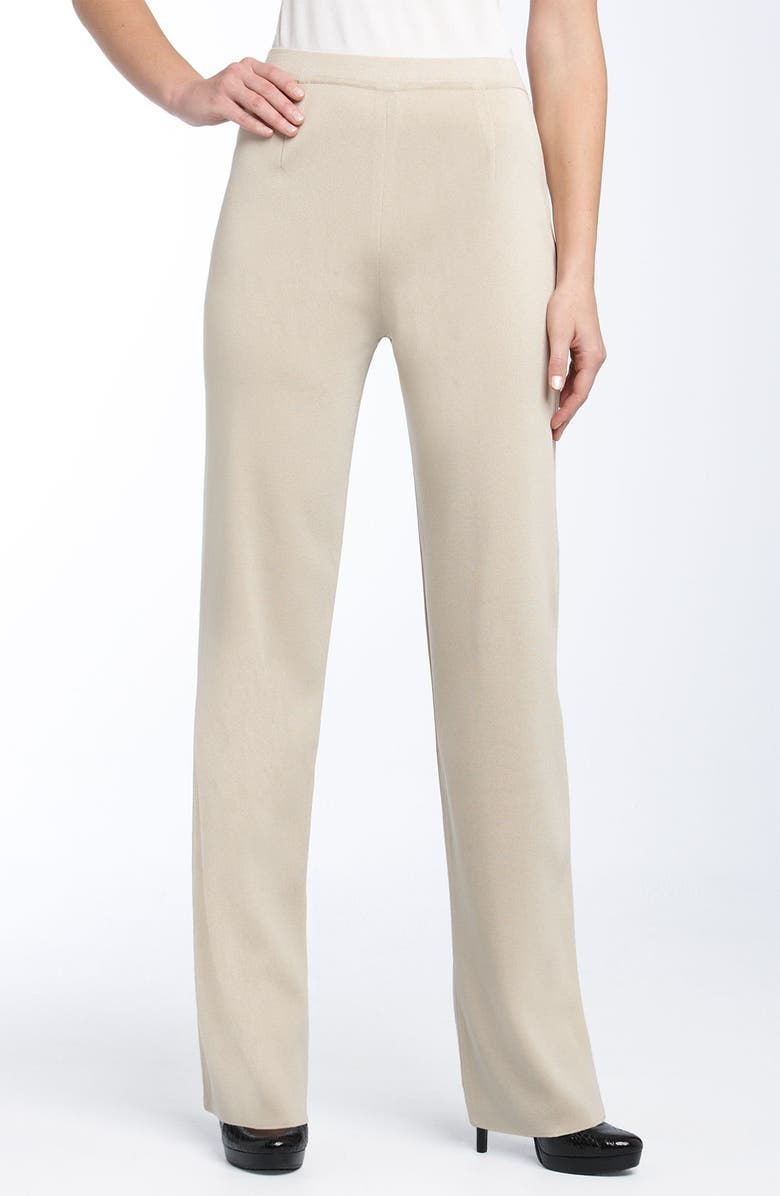 Exclusively Misook Slim Knit Pants Regular Petite Nordstrom