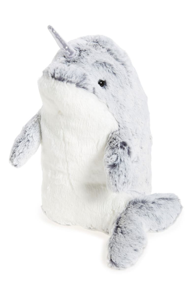 AURORA WORLD TOYS Narwhal Stuffed Animal, Main, color, 020