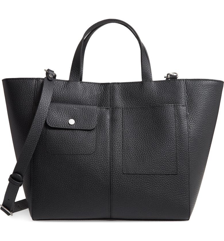 TREASURE & BOND Rory Leather Tote, Main, color, 001