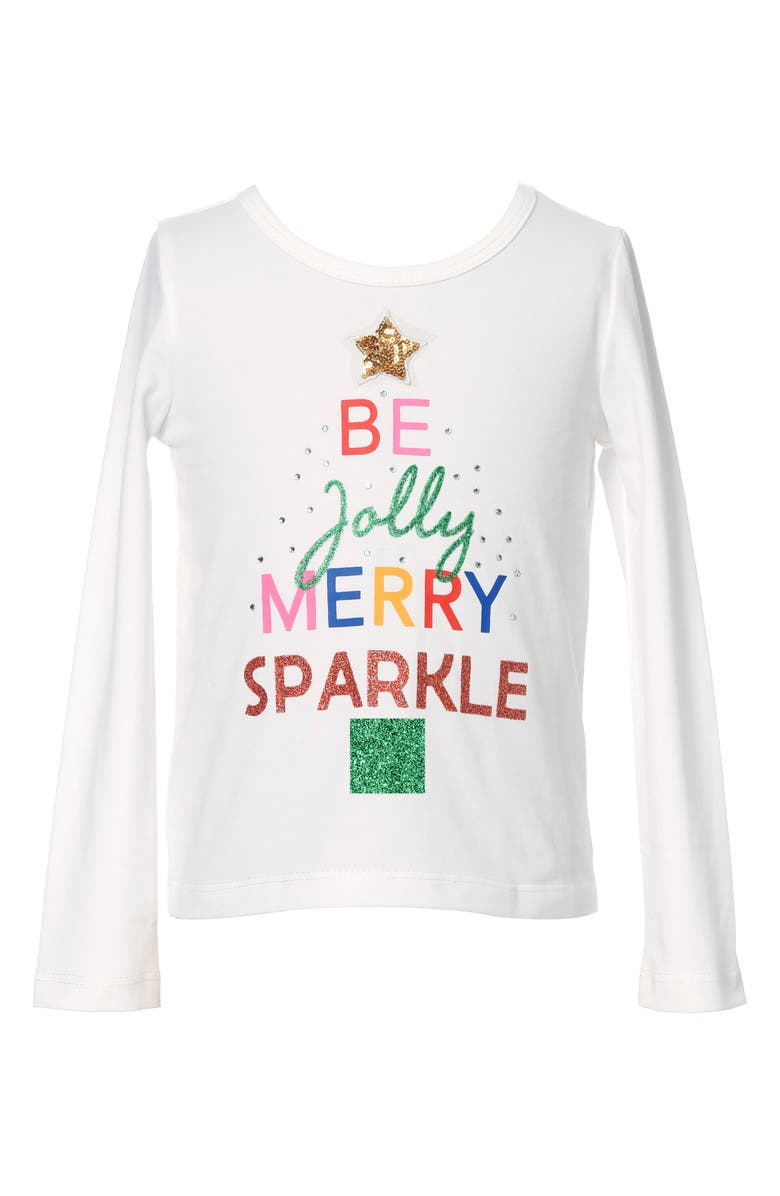 TRULY ME Kids' Jolly Holiday Top, Main, color, 100
