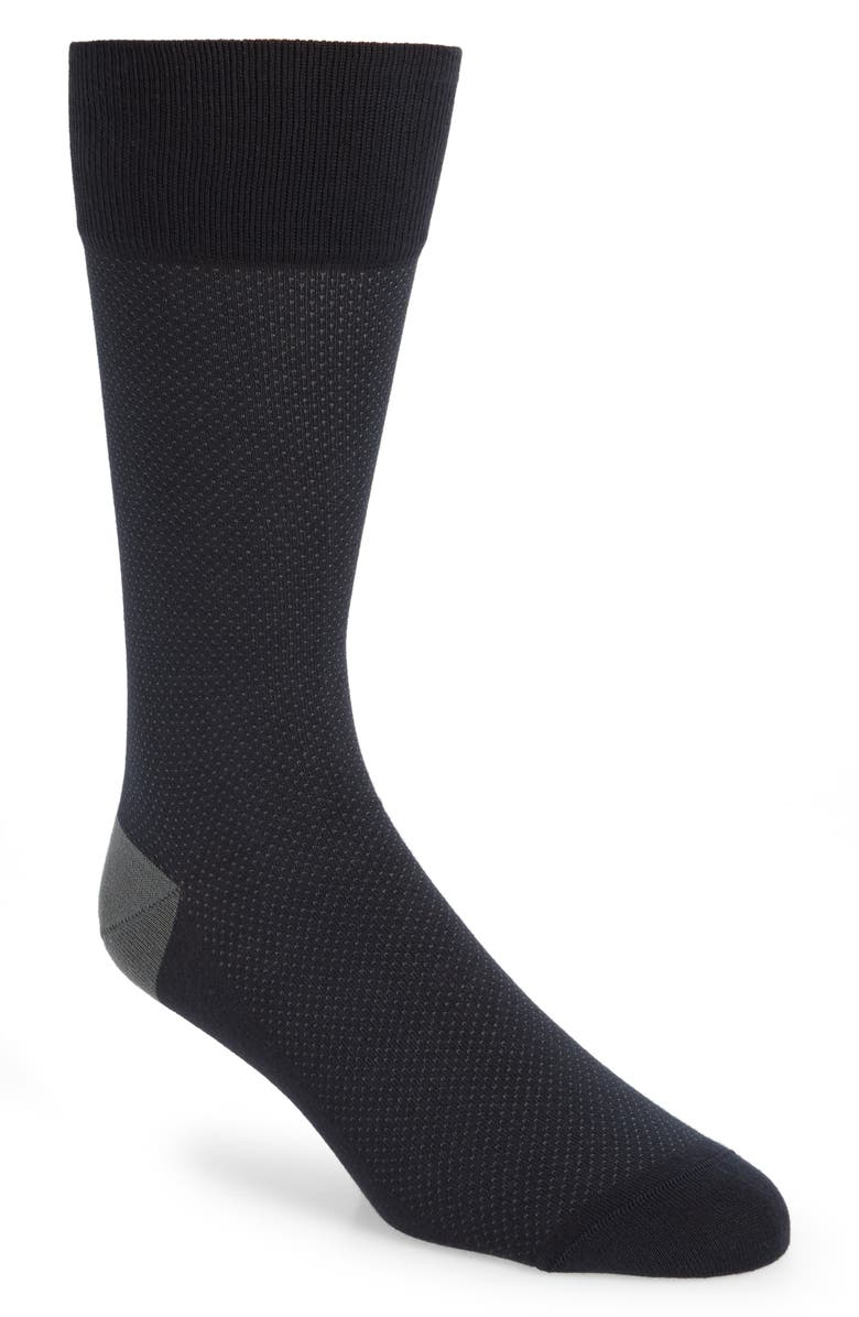 NORDSTROM SIGNATURE Bird's Eye Pima Cotton Blend Socks, Main, color, 410