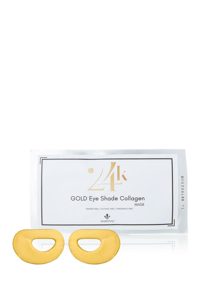 MARTINNI 24K Gold Anti-Aging Collagen Eye Mask Treatments - Set of 3, Main, color, no color