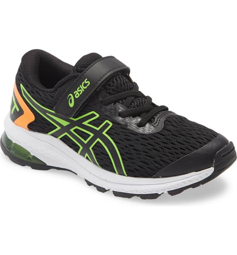 ASICS<SUP>®</SUP> GT-1000 9 PS Running Shoe, Main, color, BLACK/ GREEN GECKO