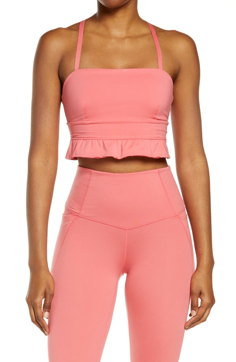 FREE PEOPLE FP MOVEMENT Plie All Day Sports Bra, Main, color, POPPY