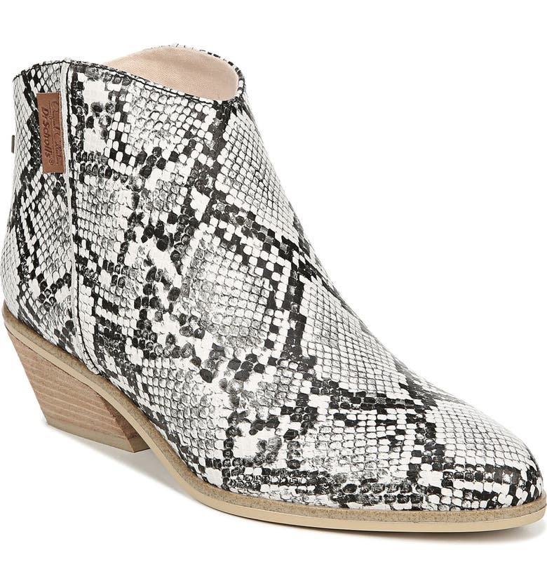 DR. SCHOLL'S Lucky One Snake Embossed Bootie, Main, color, 020