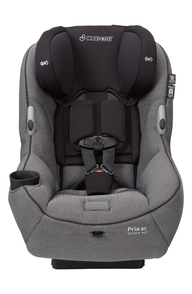 MAXI-COSI<SUP>®</SUP> 'Pria<sup>™</sup> 85 - Special Edition Herringbone' Car Seat with Cosi Sun Canopy, Main, color, BEIGE/ GREY