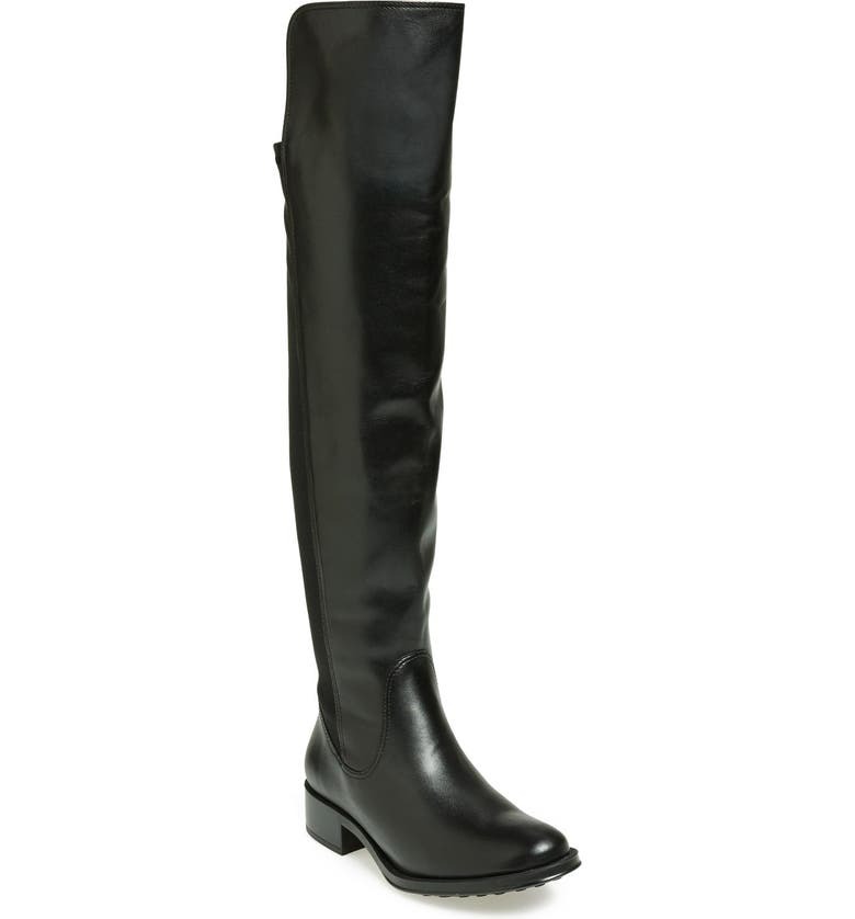 ANDRÉ ASSOUS 'Stagecoach' Waterproof Leather Over the Knee Boot, Main, color, 001