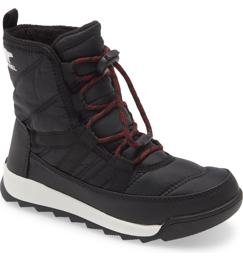 SOREL Whitney<sup>™</sup> II Short Waterproof Insulated Boot, Main, color, BLACK
