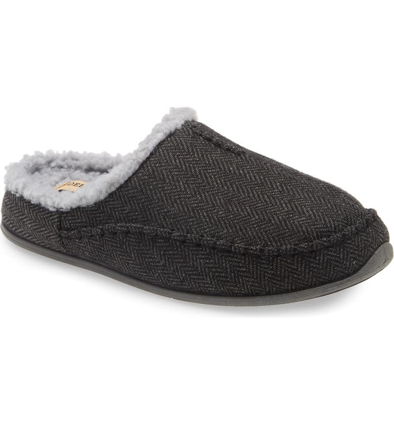 DEER STAGS Nordic Plus Memory Foam Slipper, Main, color, BLACK TWEED
