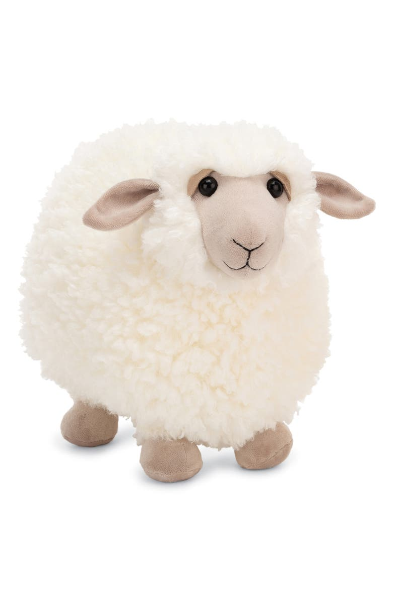JELLYCAT Rolbie Sheep Stuffed Animal, Main, color, White