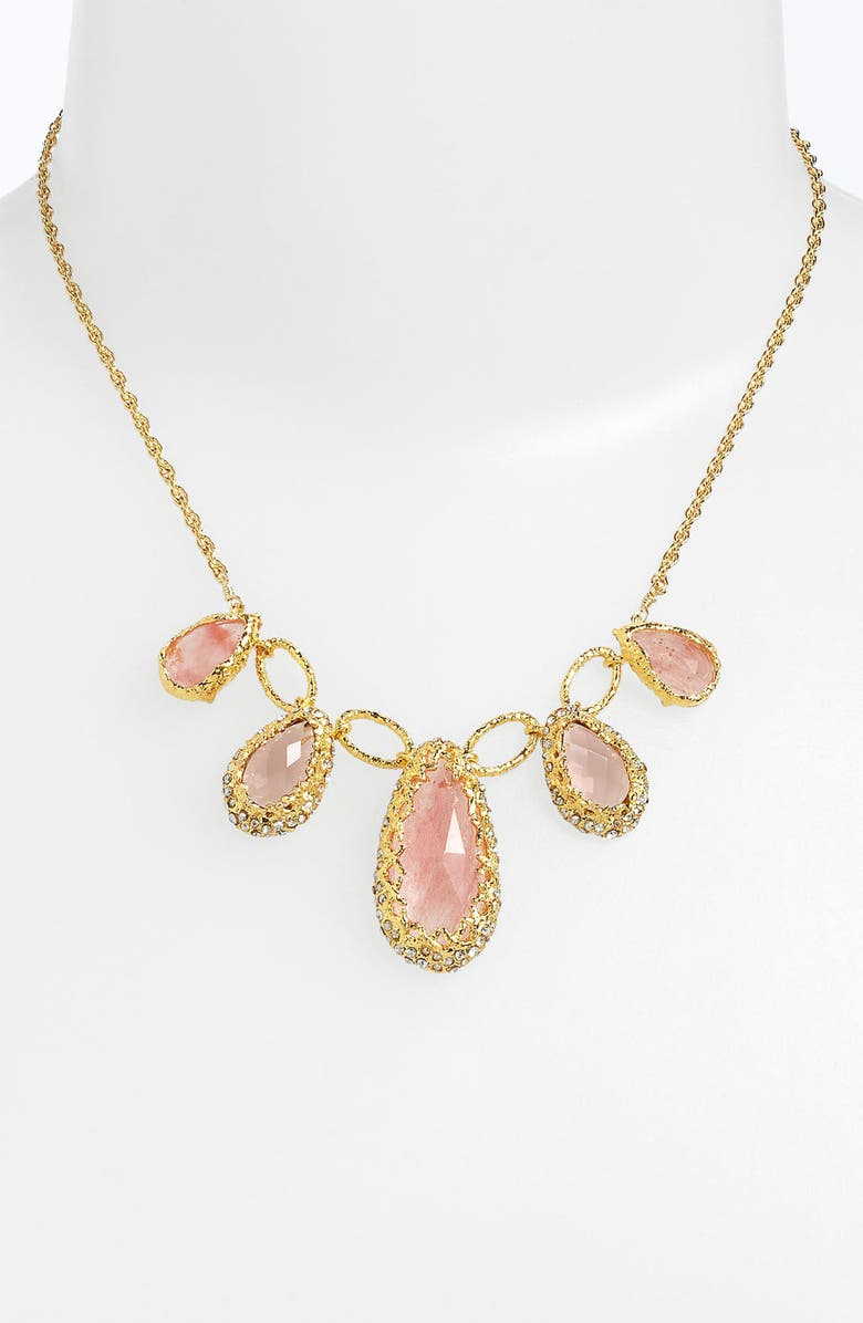 ALEXIS BITTAR 'Elements - Floral' Frontal Necklace, Main, color, 710
