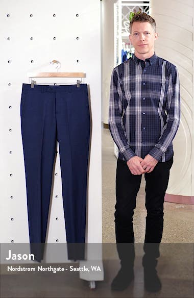 Trim Fit Wool Blend Trousers, sales video thumbnail