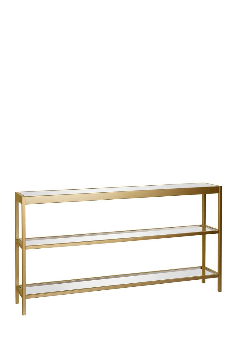 """ADDISON AND LANE Alexis 55"""" Brass Finish Console Table, Main, color, BRASS"""