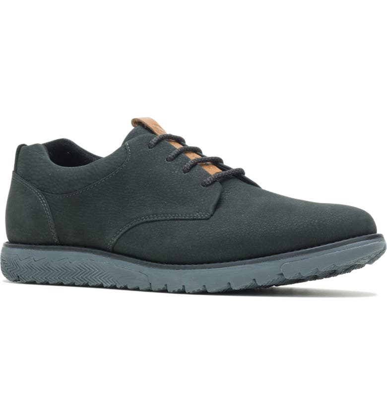 HUSH PUPPIES<SUP>®</SUP> Hush Puppies Expert Plain Toe Derby, Main, color, BLACK NUBUCK