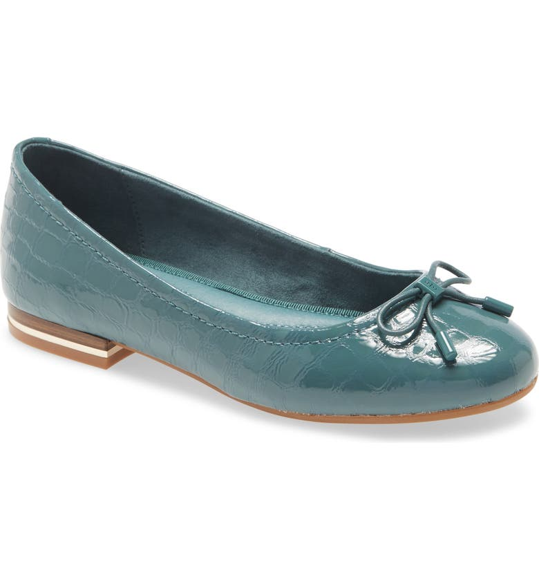 KENNETH COLE NEW YORK Balance Ballet Flat, Main, color, SEA GREEN PATENT LEATHER