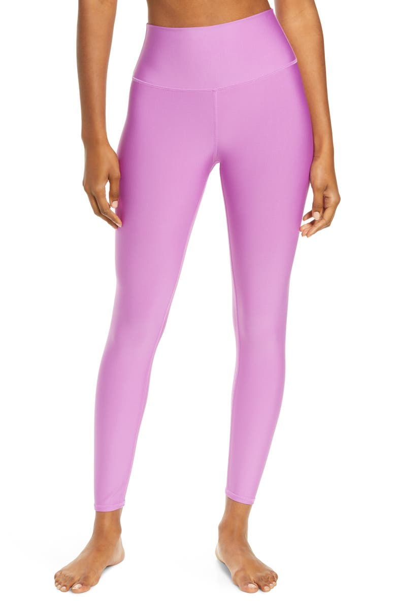 ALO Airlift High Waist 7/8 Leggings, Main, color, ELECTRIC VIOLET