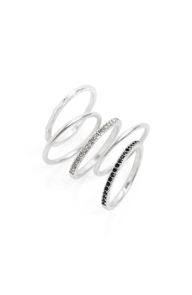 MADEWELL Filament Set of 5 Stacking Rings, Main, color, LIGHT SILVER OX