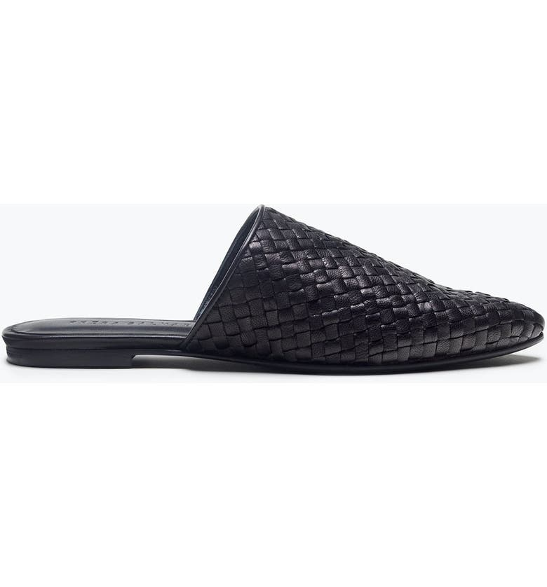 FREDA SALVADOR Holly Woven Leather Mule, Main, color, BLACK CLOSED WOVEN