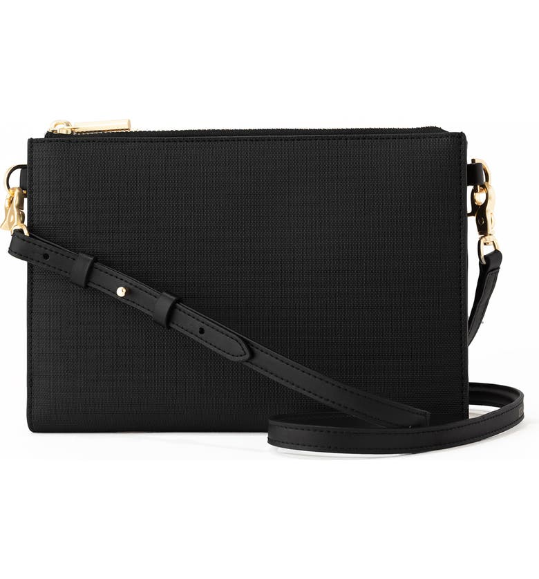 DAGNE DOVER Essentials Coated Canvas Clutch/Wallet, Main, color, 001