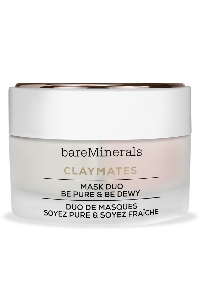 BAREMINERALS<SUP>®</SUP> Be Pure & Be Dewy Claymates Mask Duo, Main, color, 000