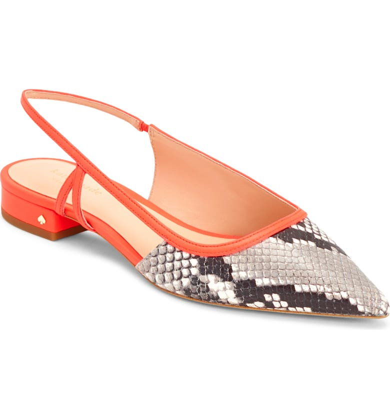 KATE SPADE NEW YORK sunday slingback flat, Main, color, 950
