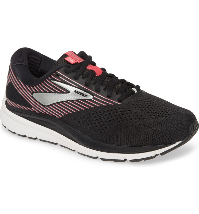 BROOKS Addiction 14 Running Shoe, Main, color, BLACK/ HOT PINK/ SILVER