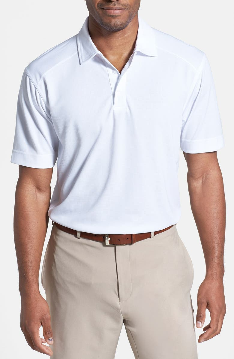 CUTTER & BUCK Genre DryTec Moisture Wicking Polo, Main, color, White